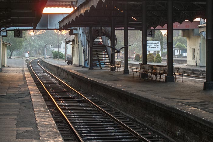 Colombo to Galle Trainstation