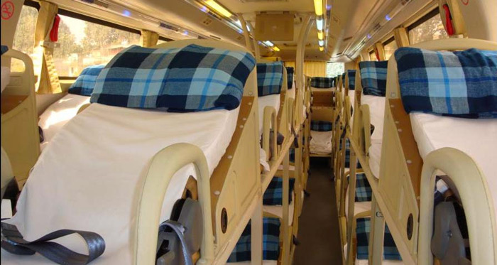 Inside an Open Bus
