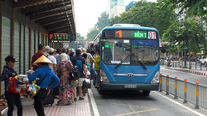 Local buses in Vietnam
